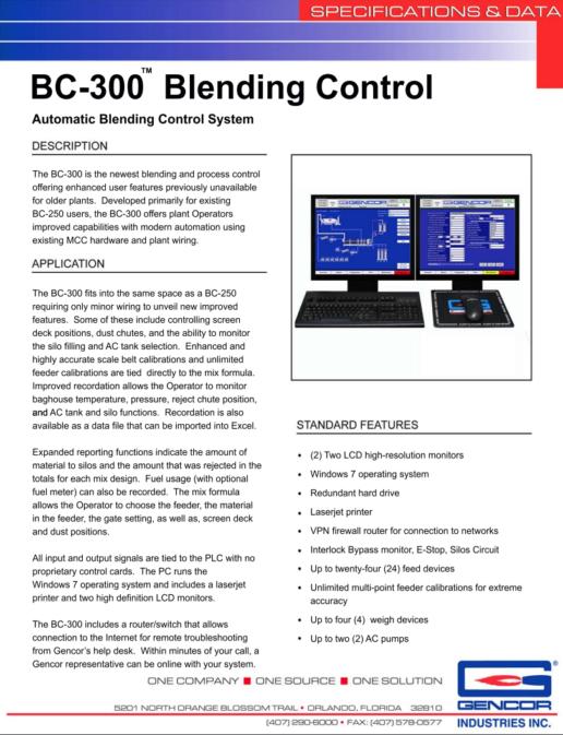 BC300 Blending Control