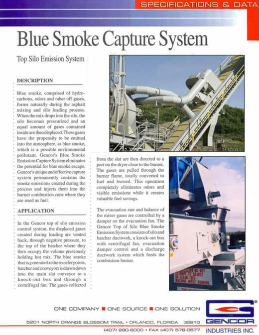 Gencor Blue Smoke Capture System