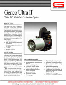 Gencor Ultra II Combustion System