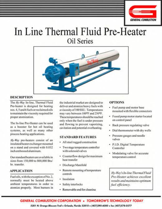 Gencor Inline Thermal Pre-Heater-Oil