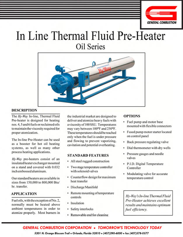 Gencor Inline Thermal Pre-Heater-Oil