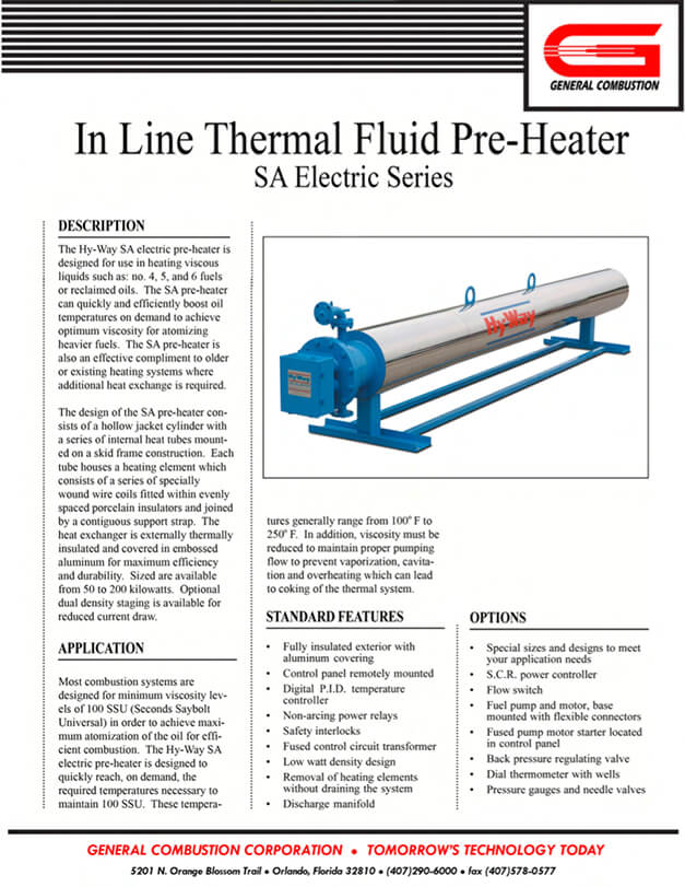 Gencor Inline Thermal Pre-Heater SA Electric