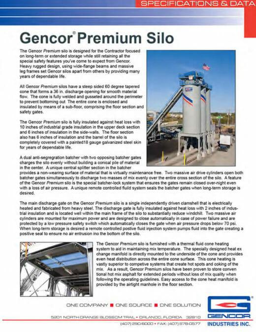 Gencor Premium Silo