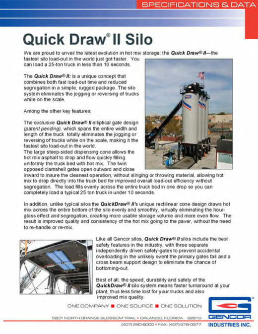 Gencor Quick Draw II Silo