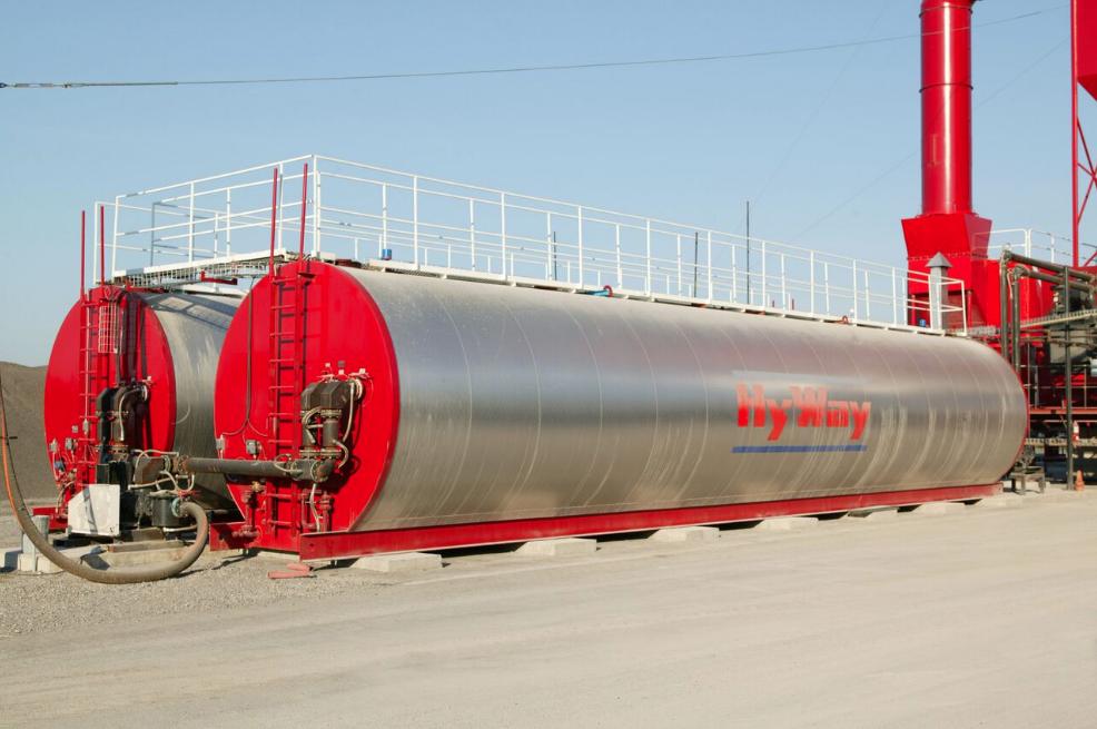 Gencor Horizontal Asphalt Storage Tank