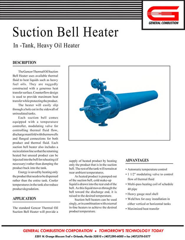 Suction Bell Heater-Oil | Gencor