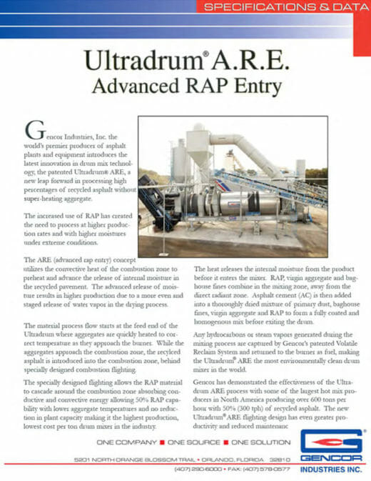 Gencor Ultradrum Advanced Rap Entry