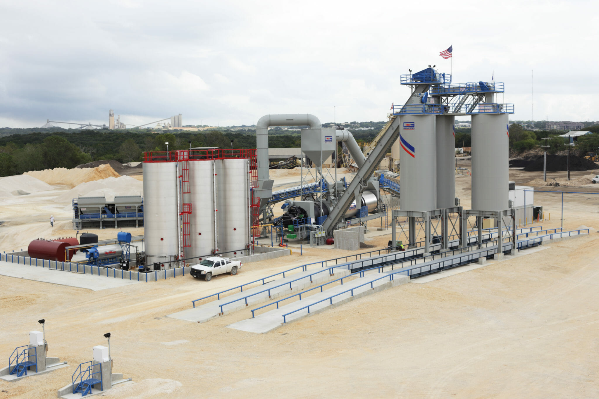 Gencor Skidded Drum Mix Plant Vulcan Helotes TX